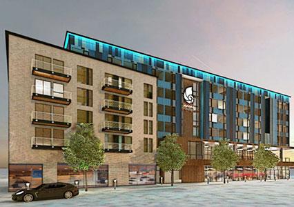 Hotel Indigo Vancouver Waterfront exterior building rendering